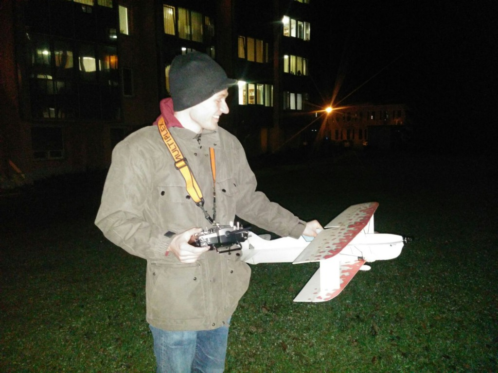 Testflug ohne Beleuchtung